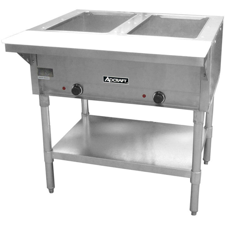 "Commercial Kitchen 2 Well Electric Hot Food Steam Table 33"" - AT Faucet"