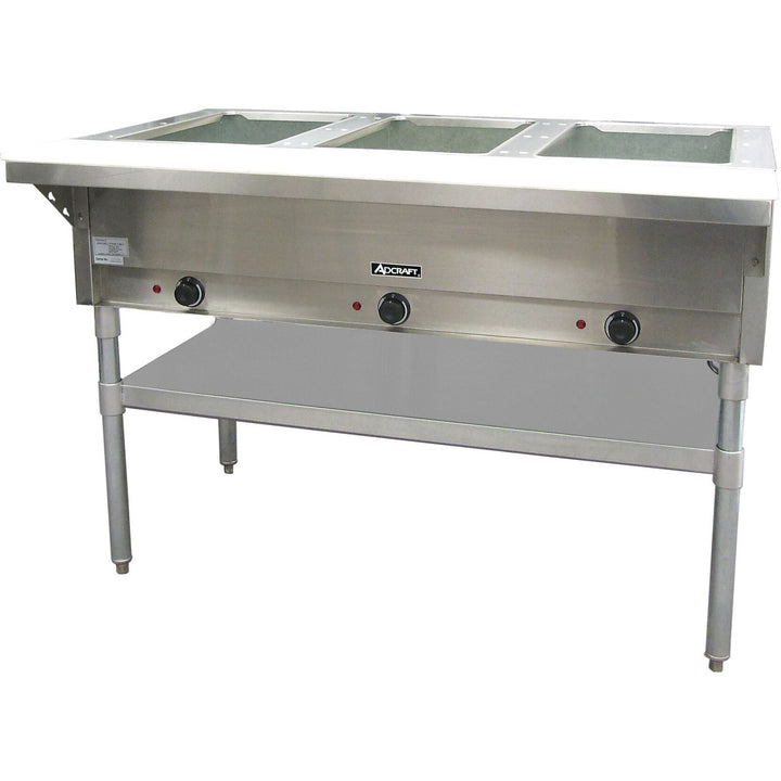 "Commercial Kitchen 3 Well Electric Hot Food Steam Table 49"" - AT Faucet"