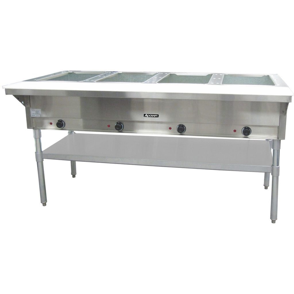 "Commercial Kitchen 4 Well Electric Hot Food Steam Table 64"" - AT Faucet"