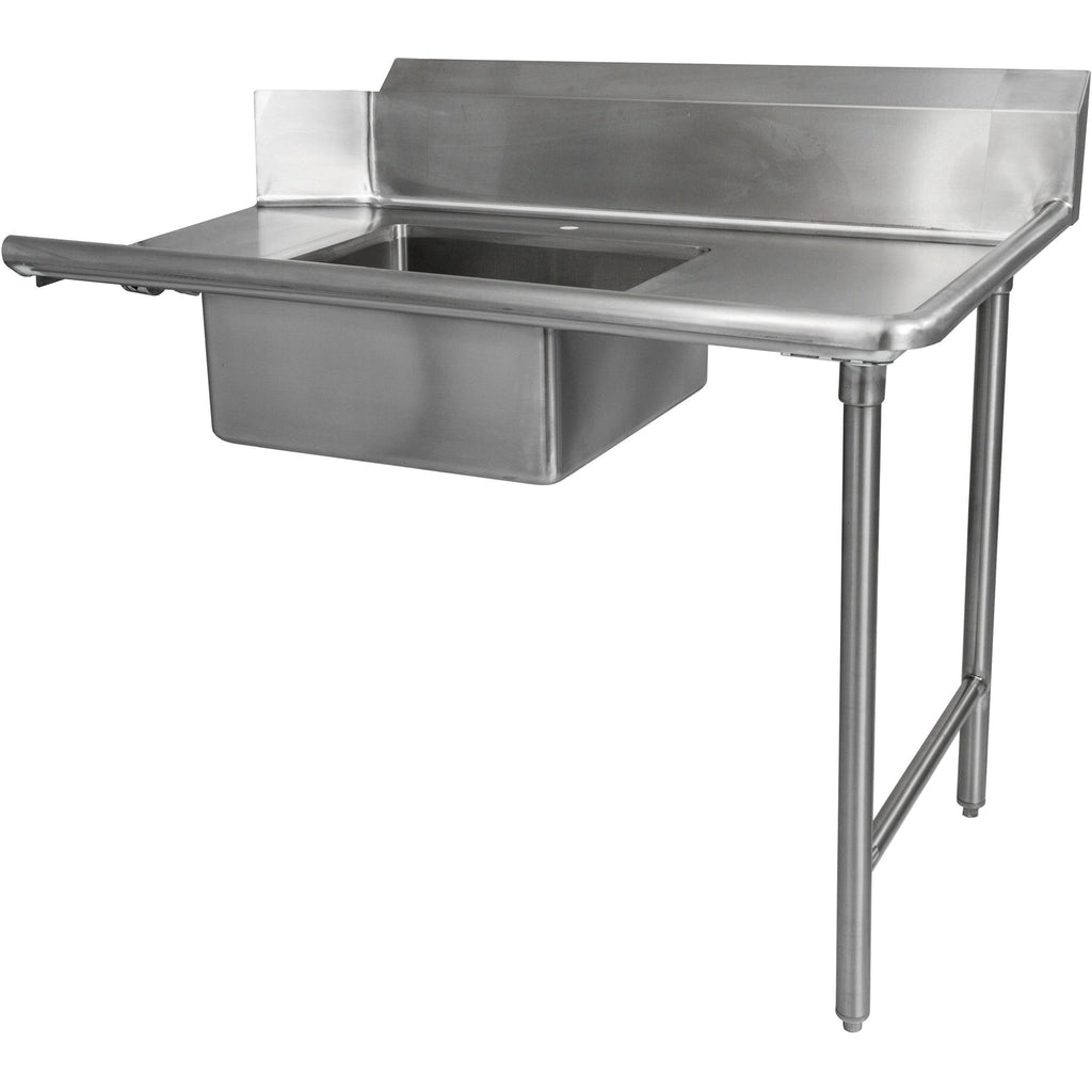 "Stainless Steel Commercial Kitchen Soiled Right Dish Table 72"" - AT Faucet"