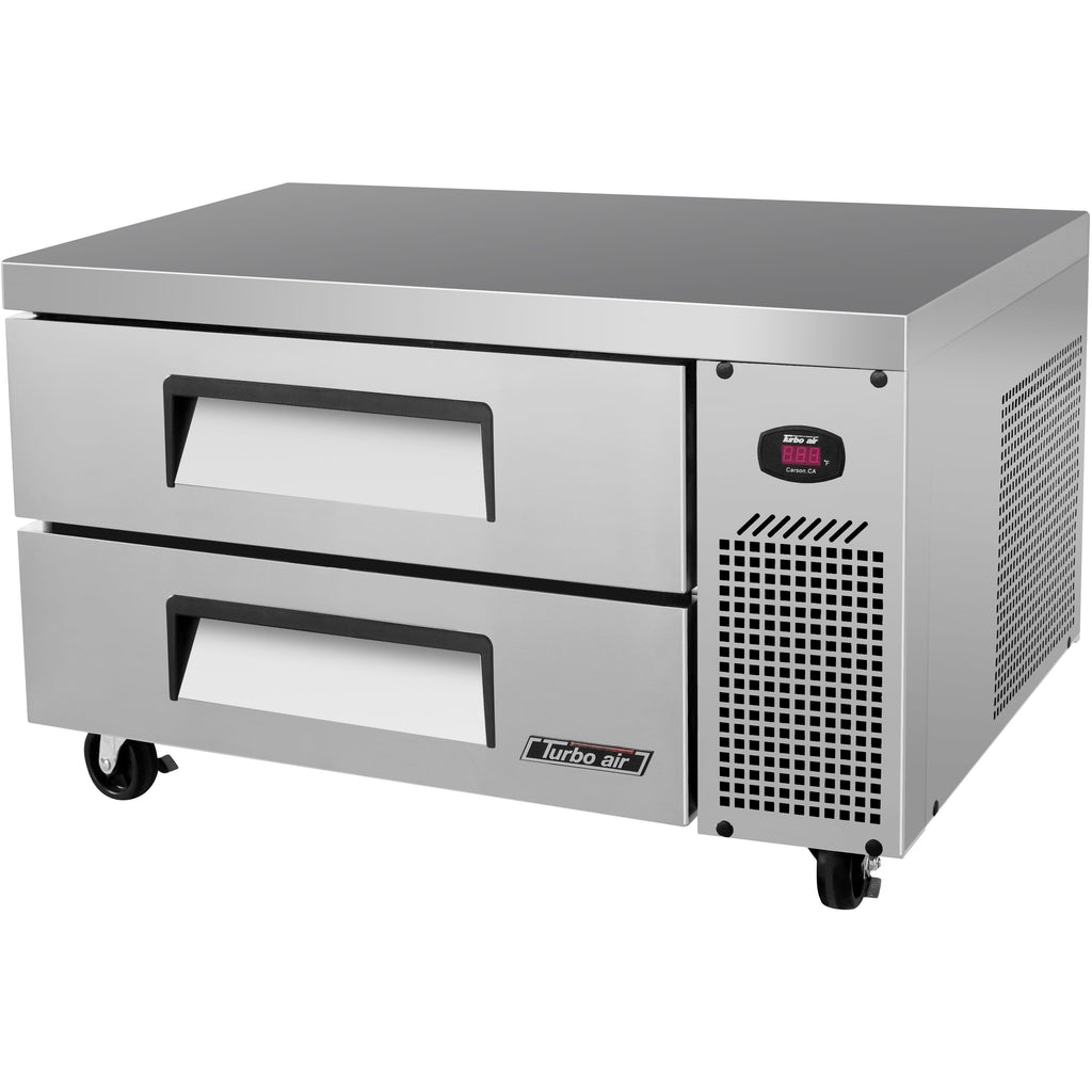 "Turbo Air TCBE-36SDR-N6 Commercial Kitchen Refrigerated Chef Base 36"" - AT Faucet"