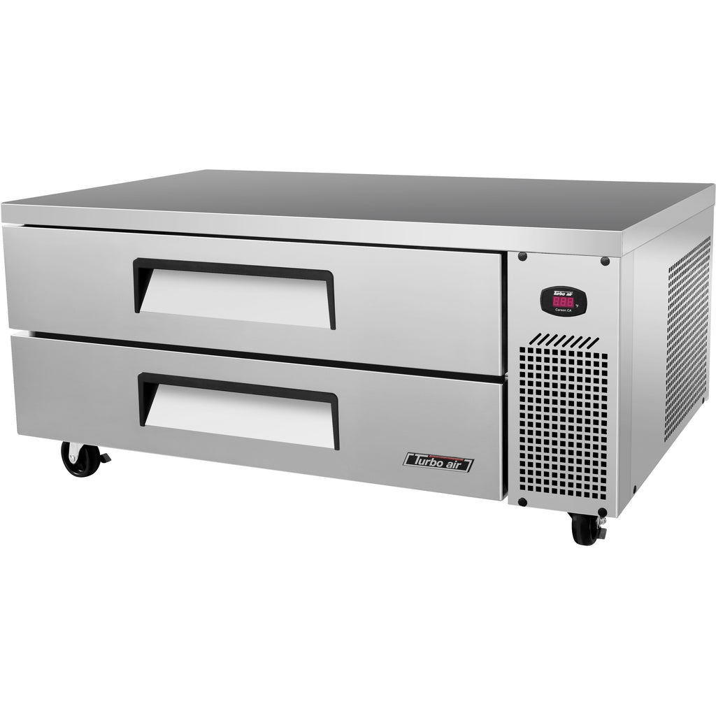 "Turbo Air TCBE-52SDR-N Commercial Kitchen Refrigerated Chef Base 52"" - AT Faucet"