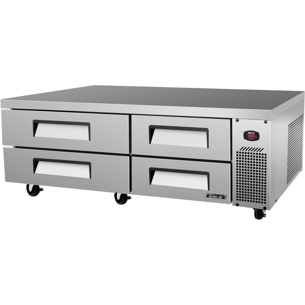 "Turbo Air TCBE-72SDR-N Commercial Kitchen Refrigerated Chef Base 72"" - AT Faucet"