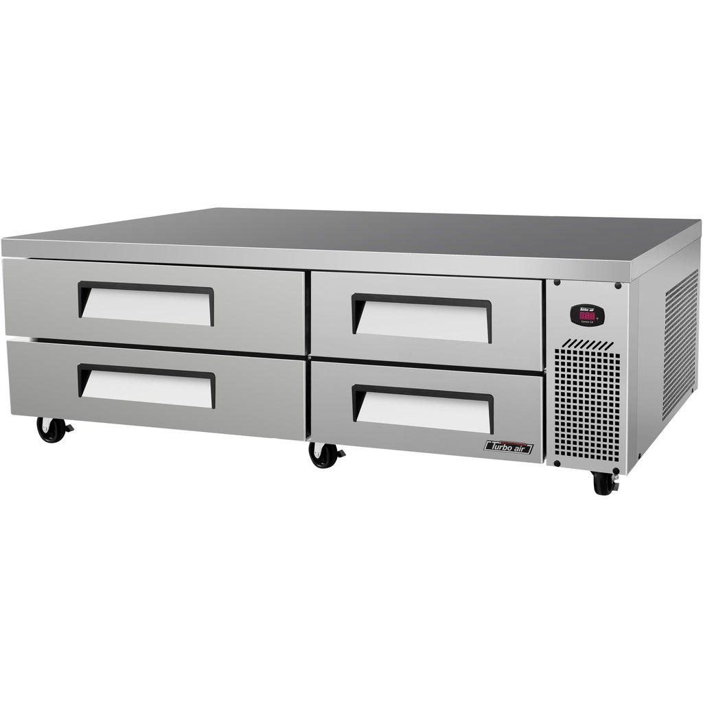 "Turbo Air TCBE-82SDR-N Commercial Kitchen Refrigerated Chef Base 82"" - AT Faucet"