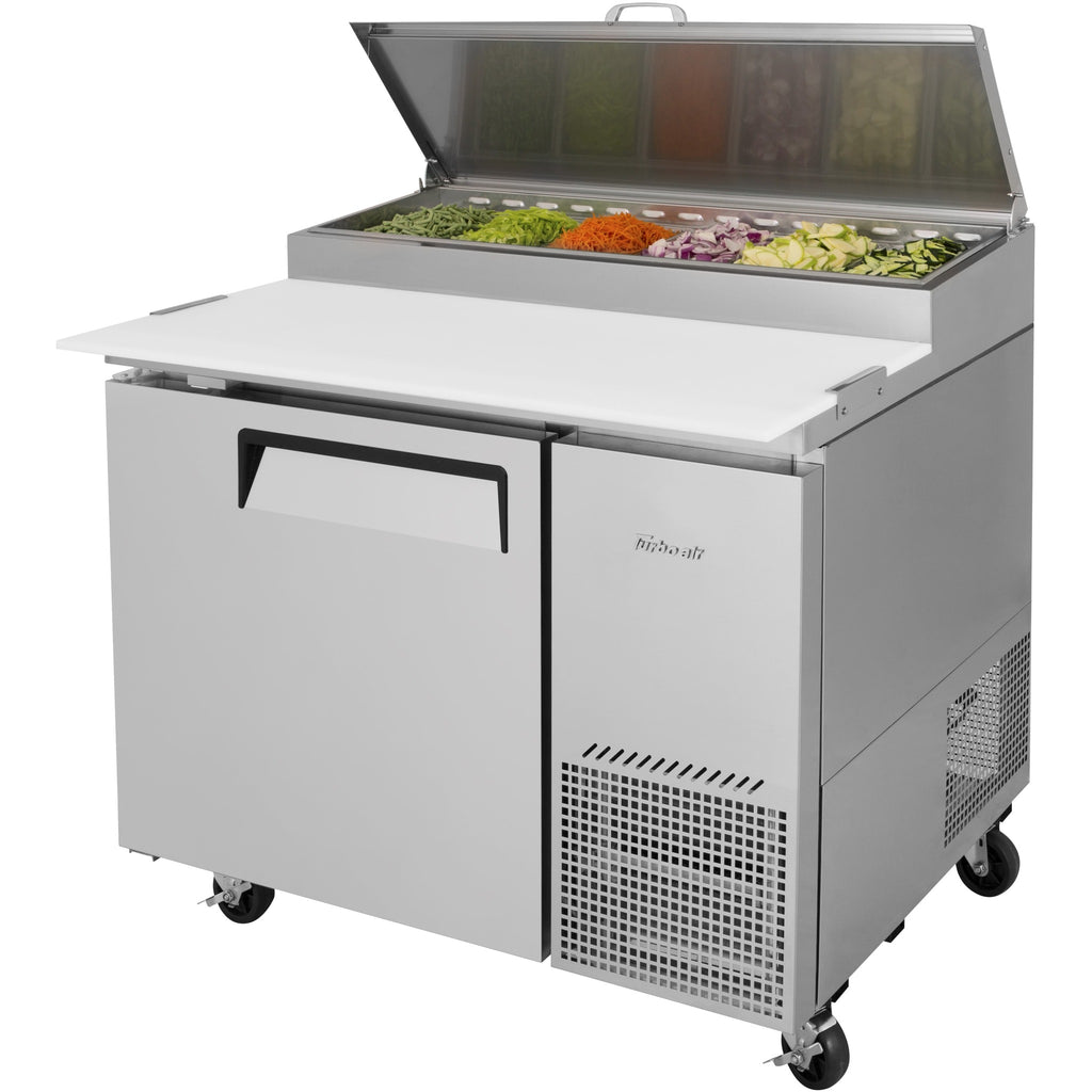 "Turbo Air Super Deluxe Pizza Prep Table with 1 Door 44"" - AT Faucet"