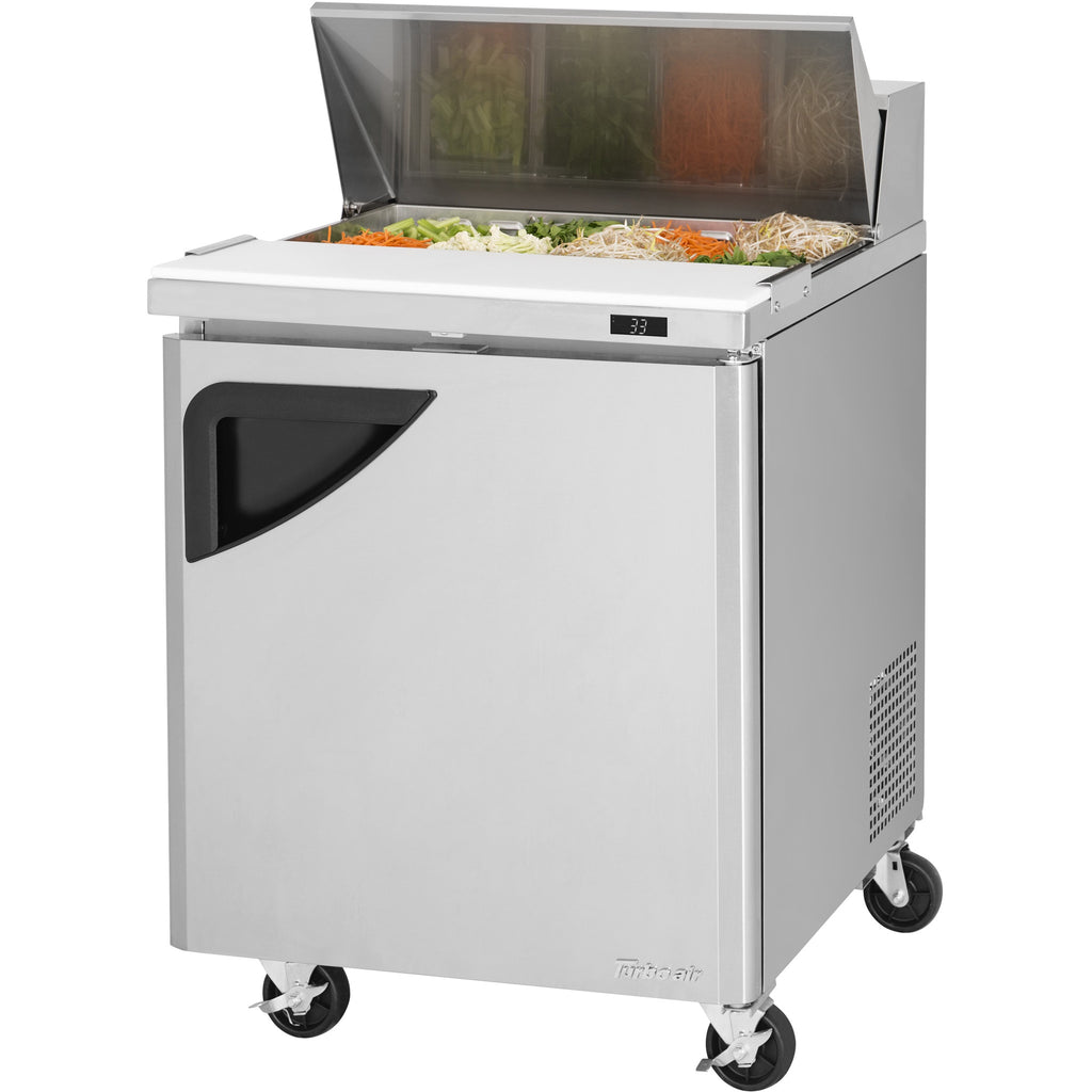 "Turbo Air Super Deluxe Commercial Refrigerated Sandwich / Salad Prep Table 28"" - AT Faucet"