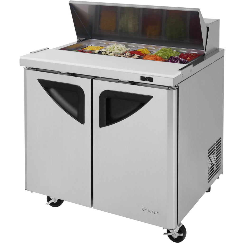 "Turbo Air Super Deluxe Commercial Refrigerated Sandwich / Salad Prep Table 37"" - AT Faucet"