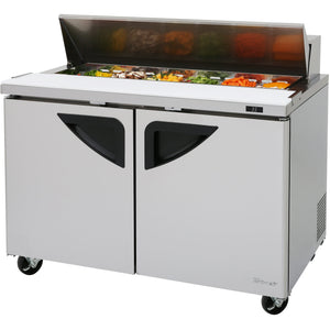 "Turbo Air Super Deluxe Commercial Refrigerated Sandwich / Salad Prep Table 48"" - AT Faucet"
