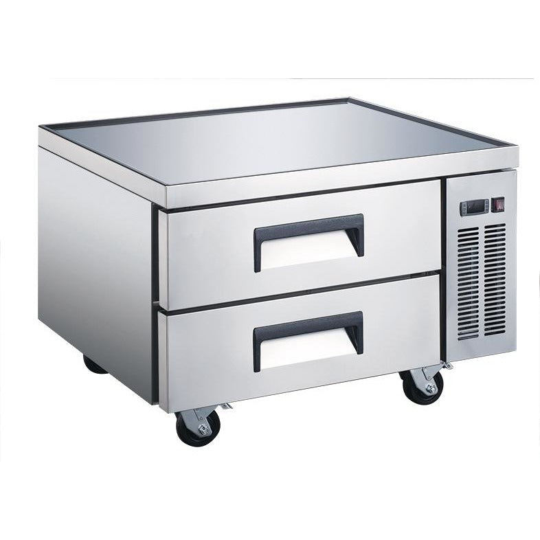 "Commercial Kitchen Refrigerated Chef Base 36"" with 2 Drawers - AT Faucet"