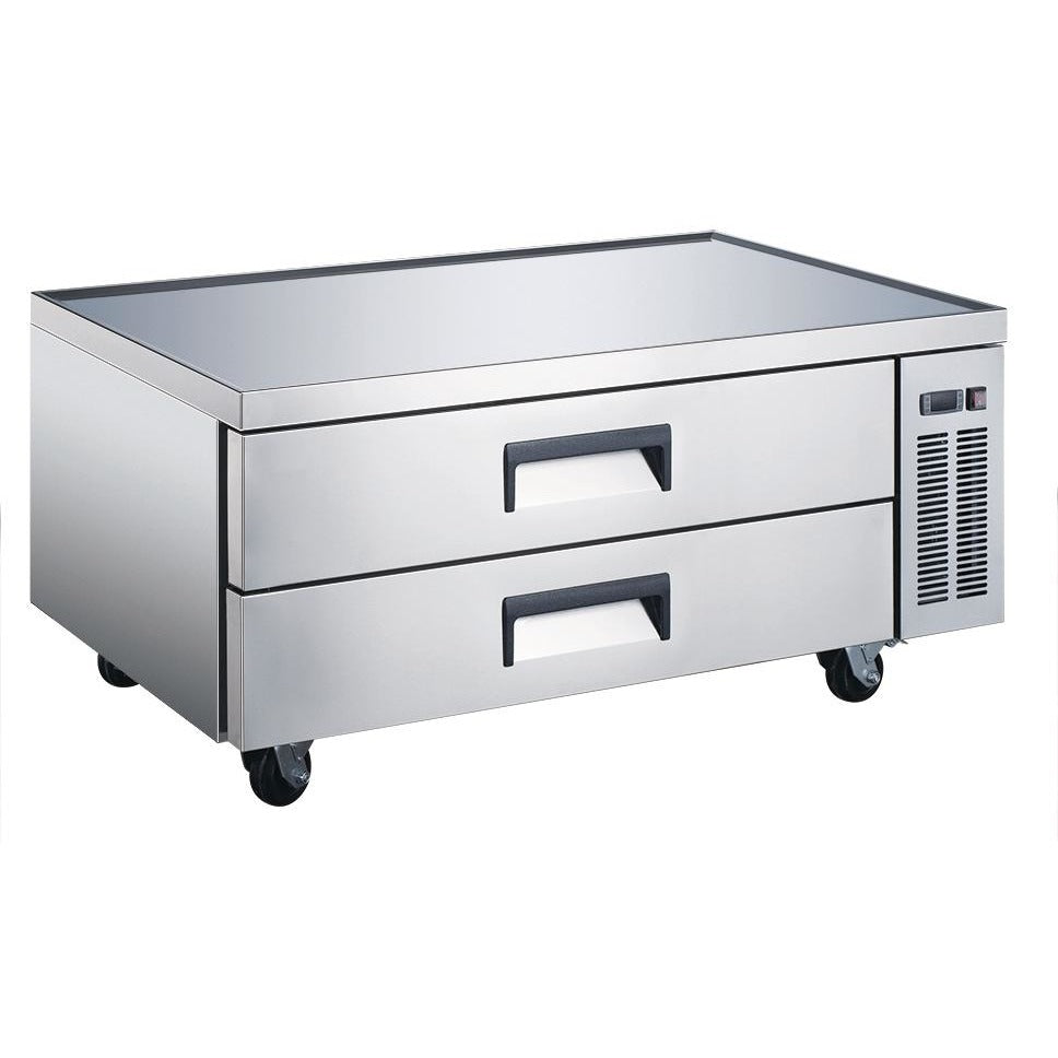 "Commercial Kitchen Refrigerated Chef Base 52"" with 2 Drawers - AT Faucet"