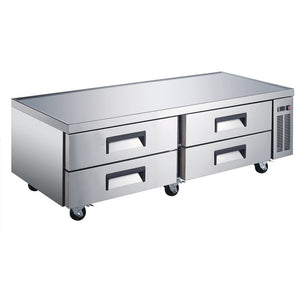 "Commercial Kitchen Refrigerated Chef Base 72"" with 4 Drawers - AT Faucet"