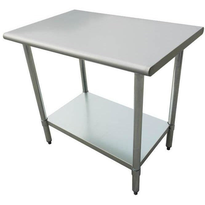 "All Stainless Steel Work Prep Table 30"" x 72"" with Undershelf - AT Faucet"
