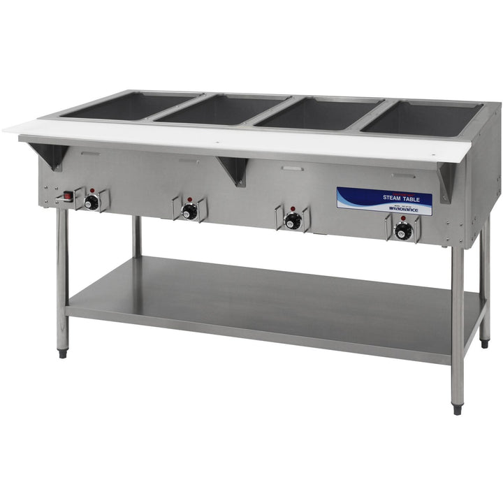 "Radiance Commercial Kitchen 4 Well Electric Steam Table 59"" - AT Faucet"
