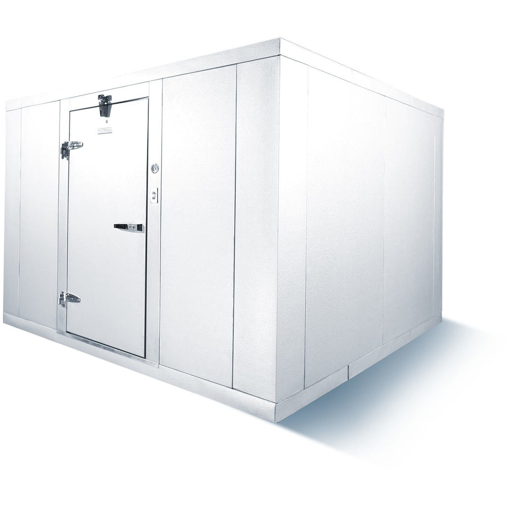 Commercial Kitchen Walk-In Box Cooler 8' x 10' with Floor Box Only - AT Faucet