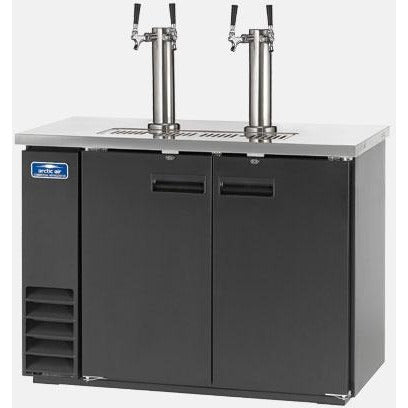 "Arctic Air ADD48R-2 Commercial Direct Draw Beer Dispenser Keg Cooler 49"" - AT Faucet"