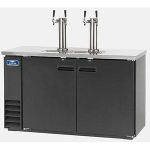 "Arctic Air ADD60R-2 Commercial Direct Draw Beer Dispenser Keg Cooler 61"" - AT Faucet"