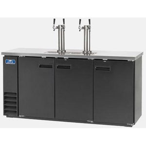 "Arctic Air ADD72R-2 Commercial Direct Draw Beer Dispenser Keg Cooler 73"" - AT Faucet"