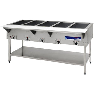 "Radiance Commercial Kitchen 5 Well Electric Steam Table 73"" - AT Faucet"