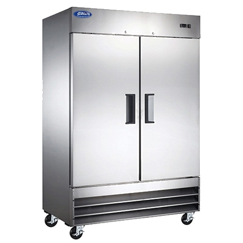 "Commercial Kitchen 48 Cu. Ft. Two Door Reach-In Freezer 54"" - AT Faucet"