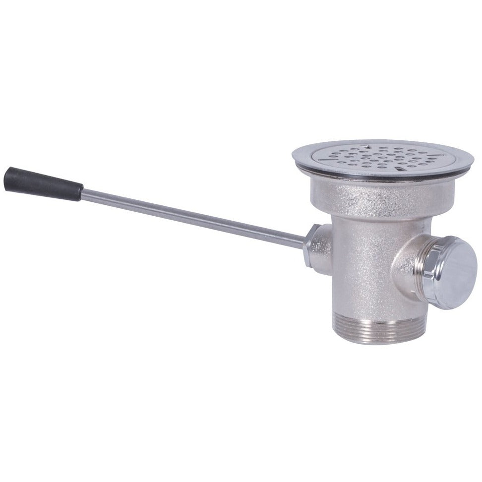 Commercial Lever Waste Drain Straight Handle with Overflow Outlet - AT Faucet
