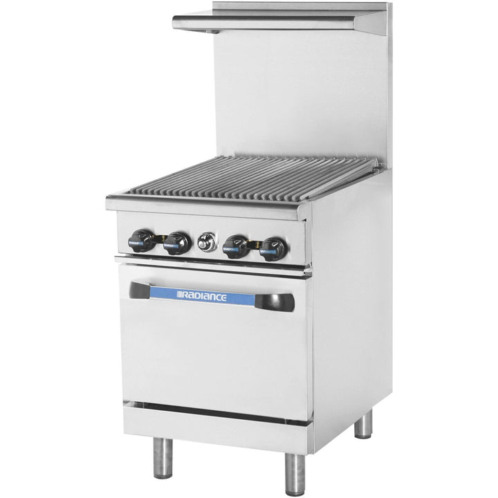 Radiance TAR-24RB Commercial Kitchen Restaurant Range with Thermostatic Radiant Broiler Top - AT Faucet