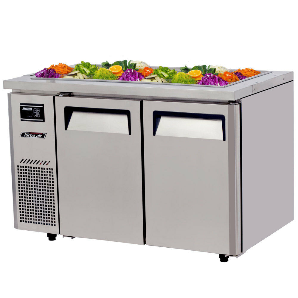 "Turbo Air JBT-48-N Refrigerated Buffet Display Table with 2 Doors 48"" - AT Faucet"