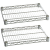 "Commercial Kitchen Heavy Duty Chrome Wire Shelves 18"" x 36"" with Clips (Box of 2) - AT Faucet"