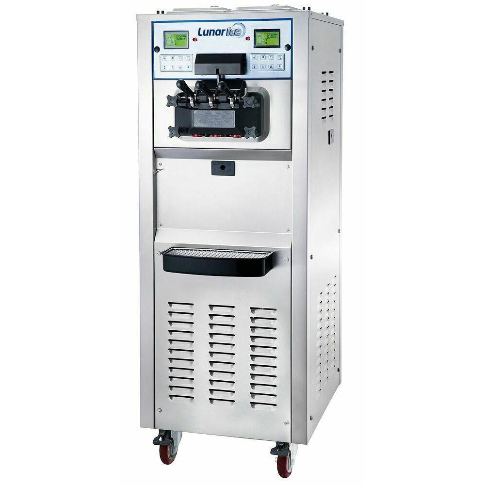Adcraft Commercial Floor Model Soft Service Ice Cream Machine 2 Flavors - AT Faucet