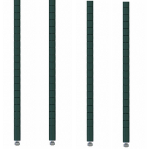 "Commercial Walk-In Box Heavy Duty Green Epoxy Posts for Shelving 86"" (Pack of 4) - AT Faucet"