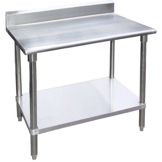 "Stainless Steel Work Prep Table 30"" x 48"" with 4"" Backsplash - AT Faucet"