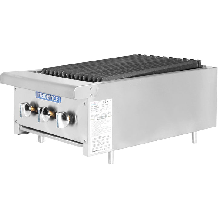 "Radiance Commercial Kitchen Countertop Radiant Gas Char-Broiler 18"" - AT Faucet"