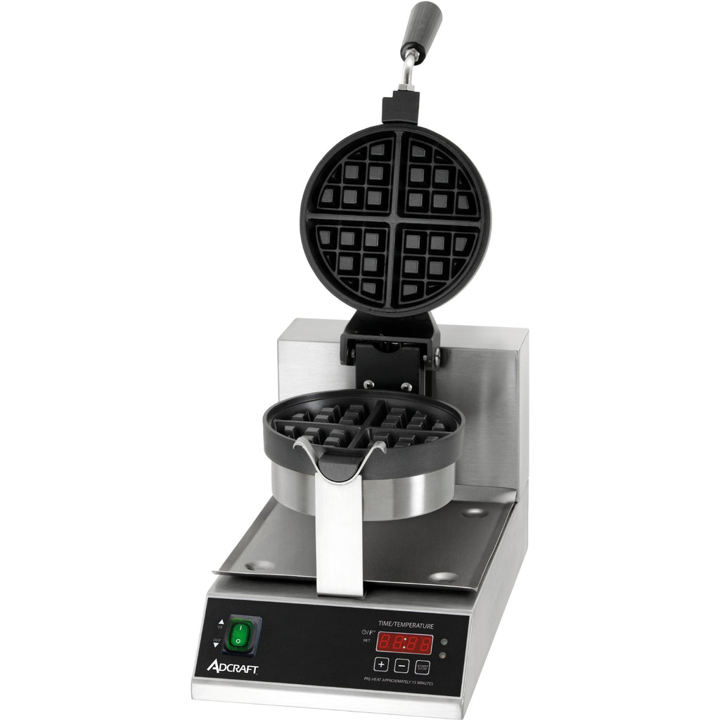 "Commercial Countertop Belgian Waffle Maker 7"" Round - AT Faucet"
