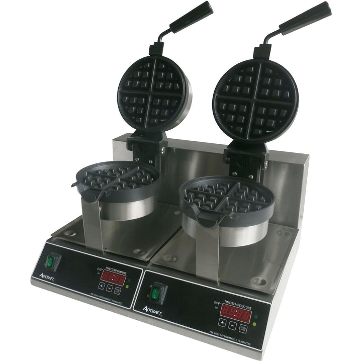 "Commercial Countertop Belgian Waffle Maker 7"" Round Double - AT Faucet"