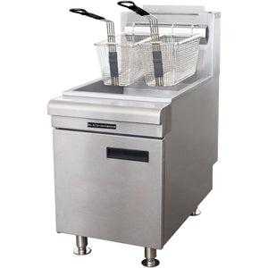 Commercial Kitchen Countertop Natural Gas Fryer 60,000 BTU - AT Faucet