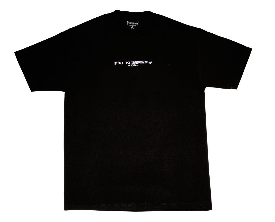 *SYD* Embroidered Brand Name T-Shirt Black
