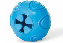 Bud'z Rubber Ball with Treat Hole 3.5in Blue