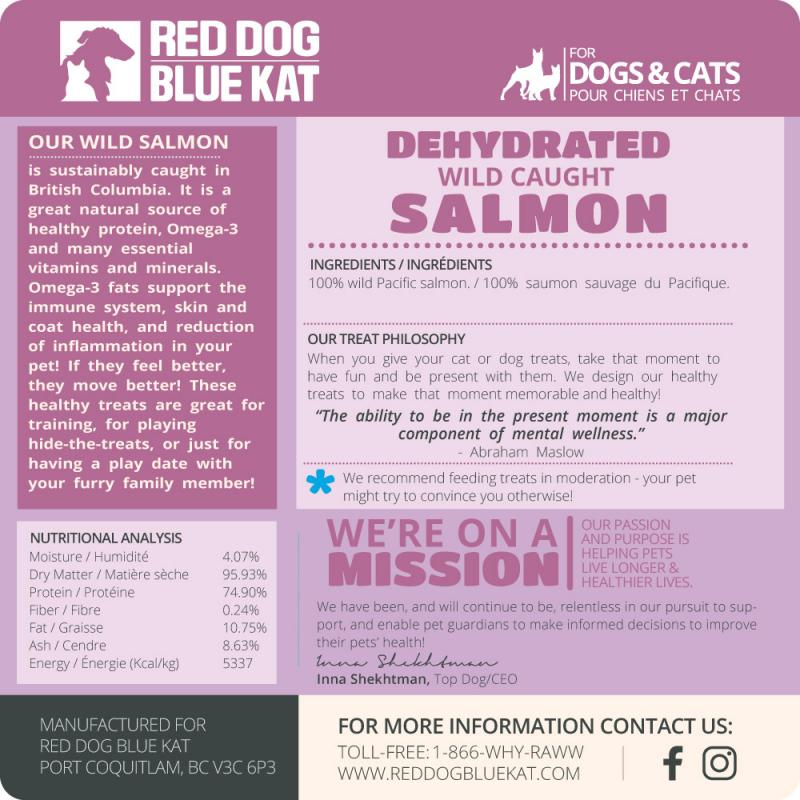 Red Dog Blue Kat Salmon Dehydrated Treats