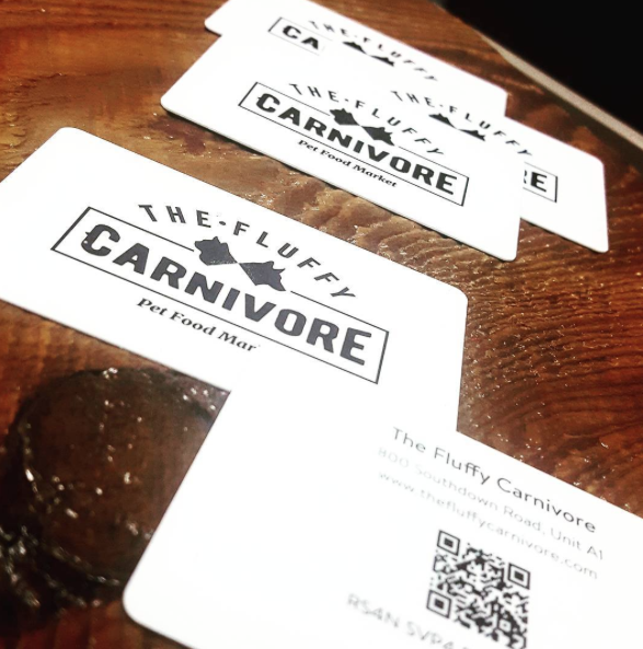 GIFT CARDS - The Fluffy Carnivore Pet Food Market, Order Online Local Delivery. Mississauga Ontario. Raw Pet Food.