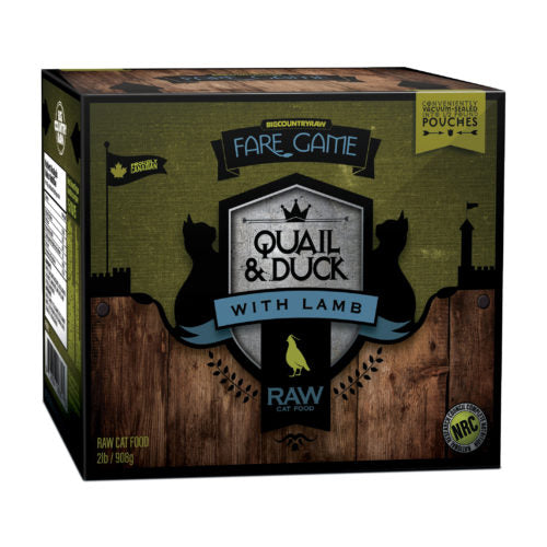 Fare Game – Duck and Quail with Lamb – 2lb