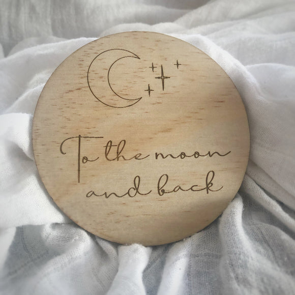 Moon & Back raw wooden disc