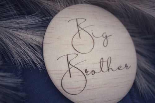 """Big Brother"" + ""Big Sister"" Raw wooden disc"