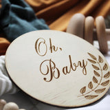 Oh Baby Raw Wooden Disc