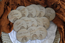 Baby Milestones wooden discs packs