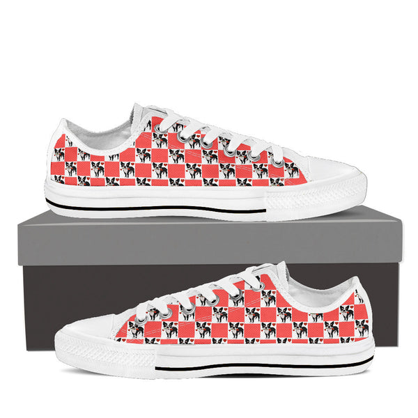 Boston Terrier In Love Low Top Shoes