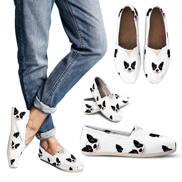 Cute Boston Terrier Casual Shoes