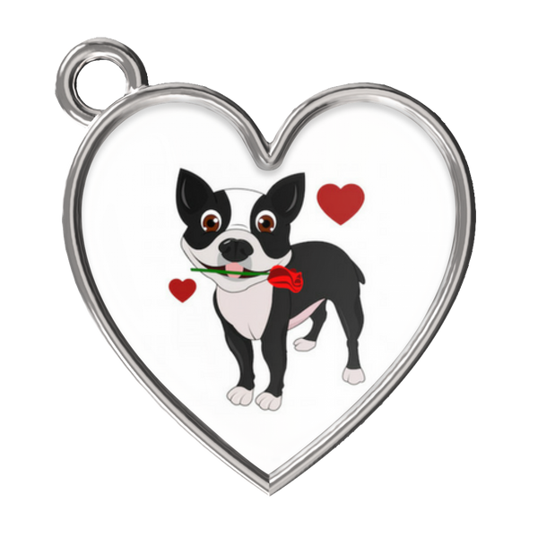 Boston Terrier in Love Bracelet