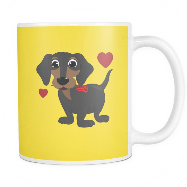 Cute Dachshund in Love Mug