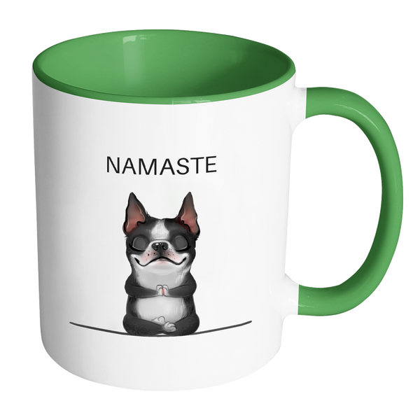 Cute Namaste Boston Terrier Mug