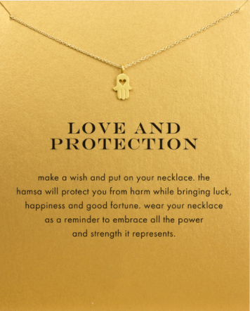 Gold Plated Love and Protection Pendant