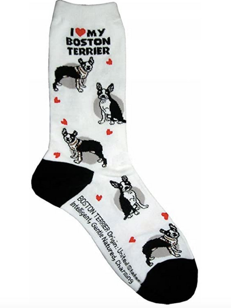 I Love My Boston Terrier Socks